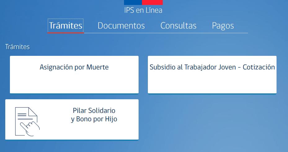 Consulta en IPS en linea sobre montos pendientes de Bonos