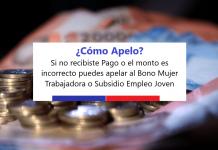 Apelación Bono Mujer trabajadora Subsidio al empleo joven